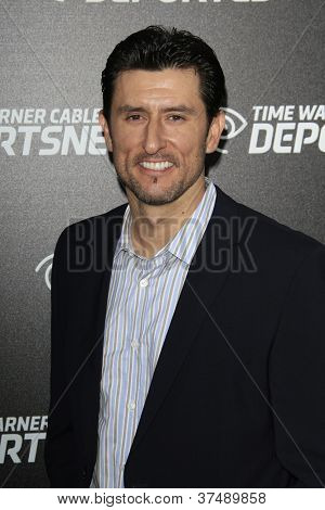 LOS ANGELES - OCT 30:  Nomar Garciaparra arrives at the Time Warner Sports Launch of TWC Sportsnet at TWC Sports Studios on October 30, 2012 in El Segundo, CA