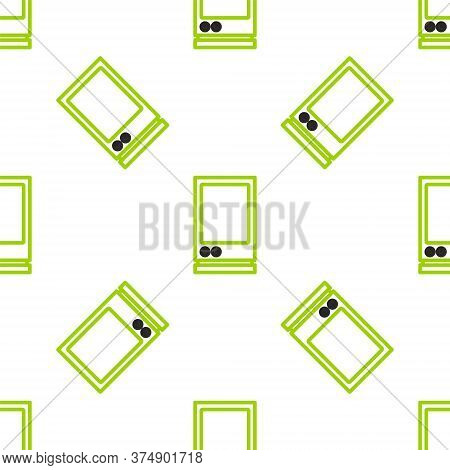 Line Voice Assistant Icon Isolated Seamless Pattern On White Background. Voice Control User Interfac