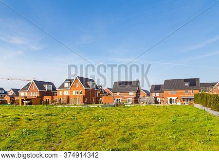 Modern Newly Built Houses In A Family Friendly Suburban Neighborhood In Veenendaal In The Netherland