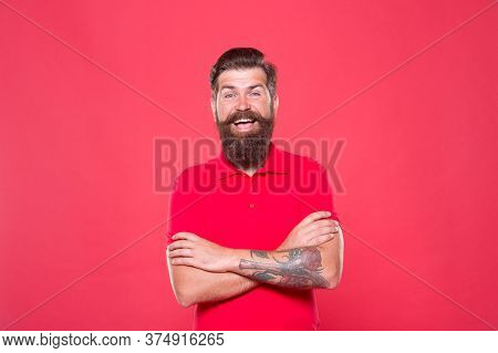 Hairdresser Salon. Unshaven Man With Beard. Brutality And Confidence. Barbershop Model. Perfect Male