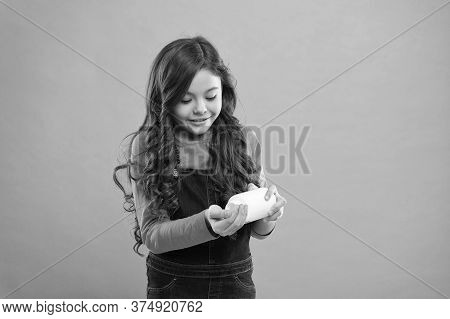Living Healthy Life. Health Care. Take Vitamin Supplements. Girl Hold Medicines Bottle. Vitamin Conc