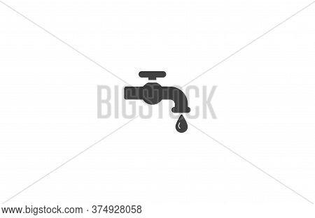 Kitchen Faucet Iconvector Icon , Lorem Ipsum Flat Design
