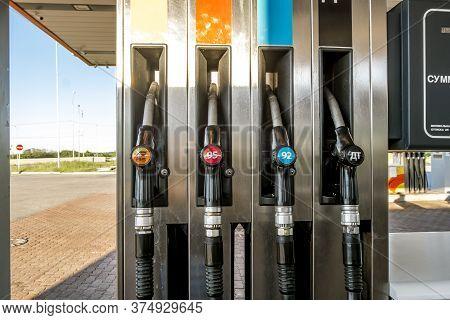 Saint-petersburg.russia.june 14, 2020.rosneft Gas Station In Saint Petersburg.