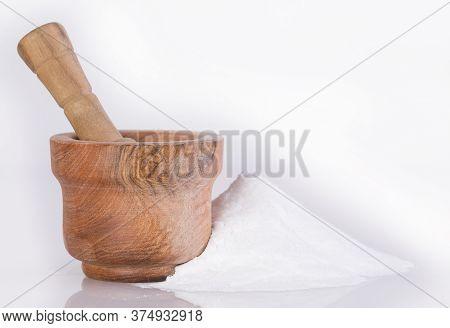 Stevia Powder, Natural Sweetener. Stevia Rebaudiana - Mortar