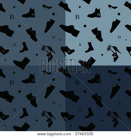 Shoes Seamless Pattern Colors