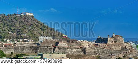 Cartagena De Indias / Colombia - 01/19/2020: Cartagena Walls