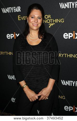 NEW YORK-OCT 3: Hillary Saltzman attends 'Everything Or Nothing: The Untold Story Of 007' premiere at the Museum of Modern Art on October 3, 2012 in New York City