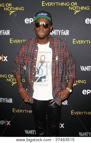 NEW YORK-OCT 3: Theophilus London attends the 'Everything Or Nothing: The Untold Story Of 007' premiere at the Museum of Modern Art on October 3, 2012 in New York City