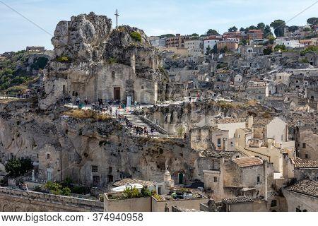 Matera, Italy - September 15, 2019: Church Of Santa Maria Di Idris In The Sassi Di Matera A Historic