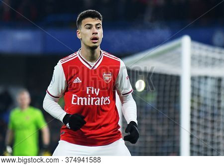 London, England - January 21, 2020: Gabriel Martinelli Of Arsenal Pictured During The 2019/20 Premie