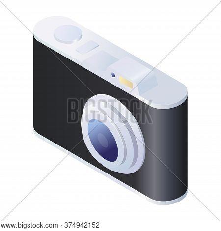 Digital Photo Camera 3d Isometric Vector Illustration. Photo Camera Icon Isolated On White