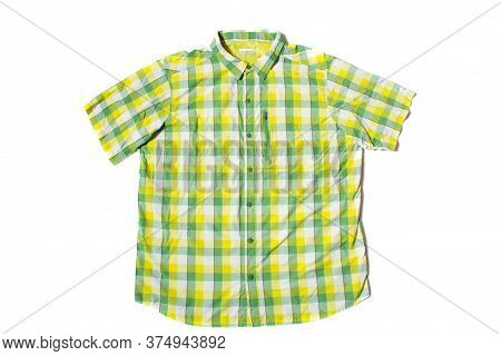 Summer Shirt With Short Sleeves On A White Background