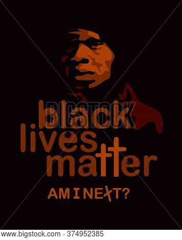 Black Lives Matter. A Young African-american Man In A Hood. A Protest Against The Oppression Of Blac