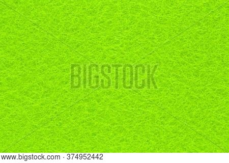 Bright Green Fleecy Textile Structured Background For Design