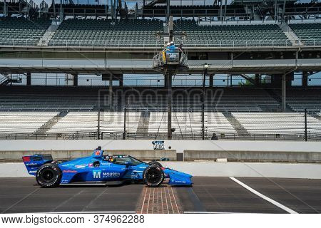 July 03, 2020 - Indianapolis, Indiana, USA: SANTINO FERRUCCI (18) of the United States practices for the GMR Grand Prix at the Indianapolis Motor Speedway in Indianapolis, Indiana.