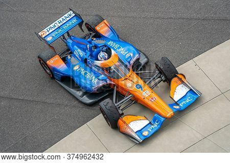 July 04, 2020 - Indianapolis, Indiana, USA: SCOTT DIXON (9) of Auckland, New Zealand  wins the GMR Grand Prix at the GMR Grand Prix at Indianapolis Motor Speedway in Indianapolis, Indiana.