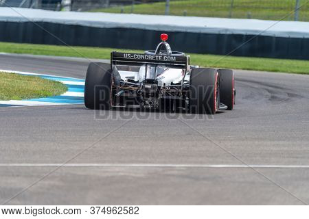 July 03, 2020 - Indianapolis, Indiana, USA: MARCO Andretti (98) of the United States practices for the GMR Grand Prix at the Indianapolis Motor Speedway in Indianapolis, Indiana.