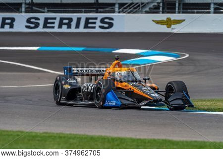 July 03, 2020 - Indianapolis, Indiana, USA: OLIVER ASKEW (7) of the United States practices for the GMR Grand Prix at the Indianapolis Motor Speedway in Indianapolis, Indiana.