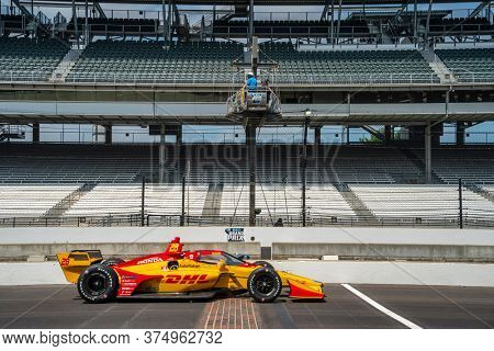 July 03, 2020 - Indianapolis, Indiana, USA: RYAN HUNTER-REAY (28) of the United States practices for the GMR Grand Prix at the Indianapolis Motor Speedway in Indianapolis, Indiana.