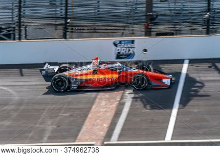 July 03, 2020 - Indianapolis, Indiana, USA: JAMES HINCHCLIFFE (29) of Toronto, Canada  qualifies for the GMR Grand Prix at Indianapolis Motor Speedway in Indianapolis, Indiana.