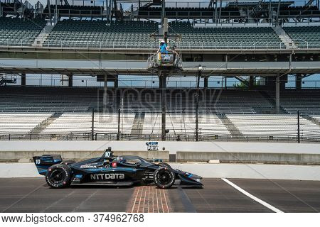 July 03, 2020 - Indianapolis, Indiana, USA: FELIX ROSENQVIST (10) of Värnamo, Sweden practices for the GMR Grand Prix at the Indianapolis Motor Speedway in Indianapolis, Indiana.