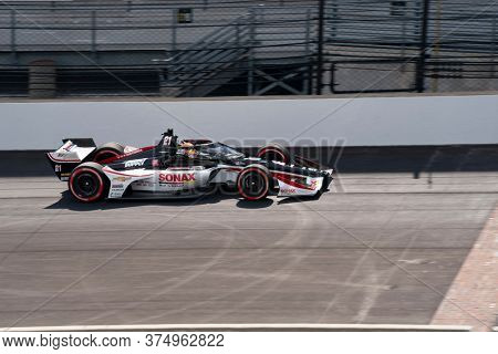 July 03, 2020 - Indianapolis, Indiana, USA: RINUS VEEKAY (R) (21) of Hoofddorp, Netherlands  qualifies for the GMR Grand Prix at Indianapolis Motor Speedway in Indianapolis, Indiana.