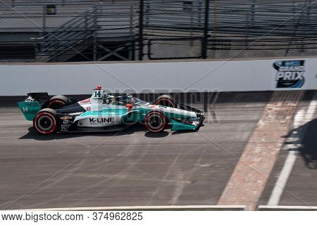 July 03, 2020 - Indianapolis, Indiana, USA: DALTON KELLETT (R) (14) of Stouffville, Canada  qualifies for the GMR Grand Prix at Indianapolis Motor Speedway in Indianapolis, Indiana.
