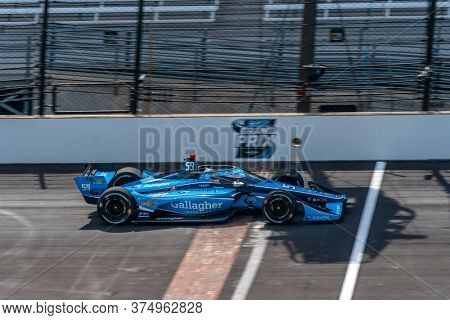 July 03, 2020 - Indianapolis, Indiana, USA: MAX CHILTON (59) of Reigate England   qualifies for the GMR Grand Prix at Indianapolis Motor Speedway in Indianapolis, Indiana.