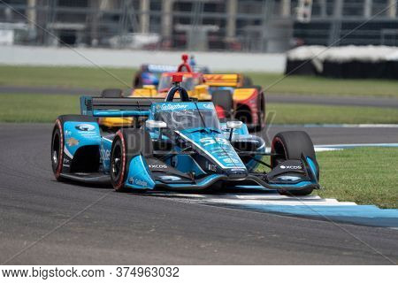 July 04, 2020 - Indianapolis, Indiana, USA: MAX CHILTON (59) of Reigate England   races through the turns during the  race for the GMR Grand Prix at Indianapolis Motor Speedway