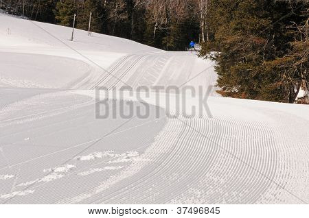 Groomed cross country ski trails in winter park