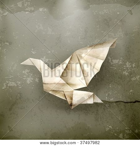 Paper Dove, old-style vector