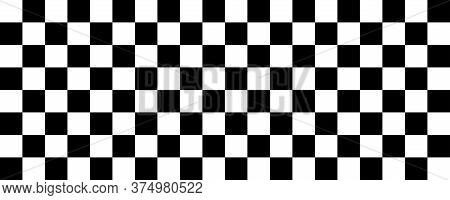 Race Flag. Finish Flag. Vector Isolated Illustration. Race Flag Icon. Stock Vector.
