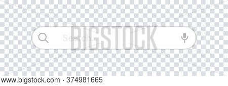 Search Bar. Vector Isolated Web Element. Search Bar Box With Shadow. Internet Technology Www. Stock