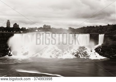 Niagara Falls as the famous natural landscape in Canada