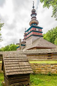View At The Wooden Church Church Of Protection Of The Blessed Virgin From Zboj In Bardejovske Kupele