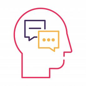 Psychology And Psychiatry Thin Line Vector Icon