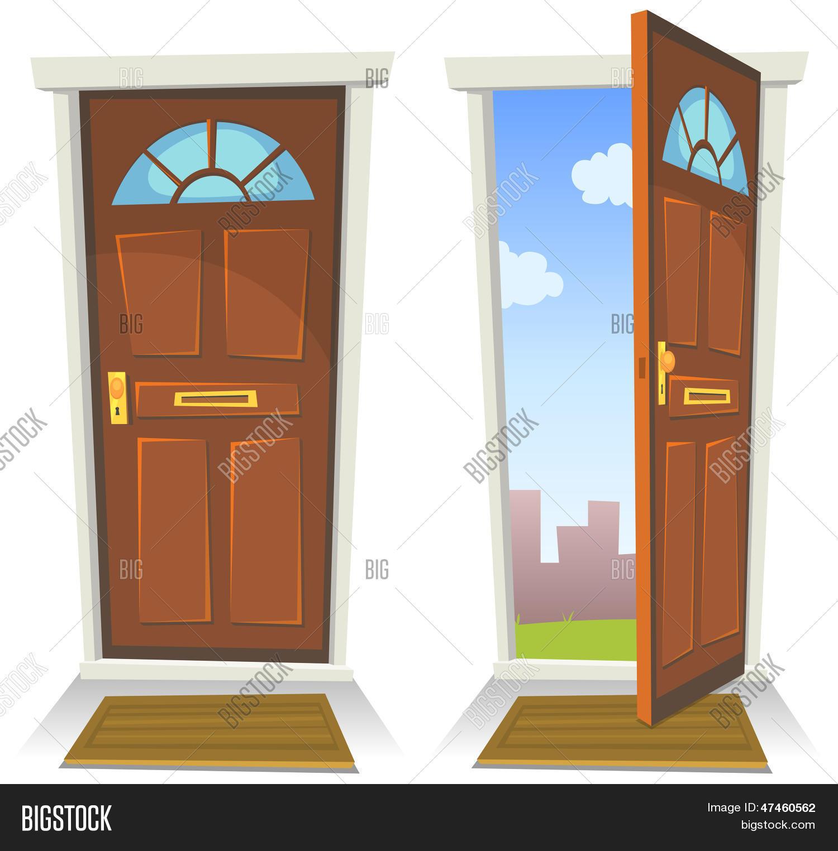 Cartoon Red Door Open And Closed  sc 1 st  Bigstock & Cartoon Red Door Vector u0026 Photo (Free Trial) | Bigstock