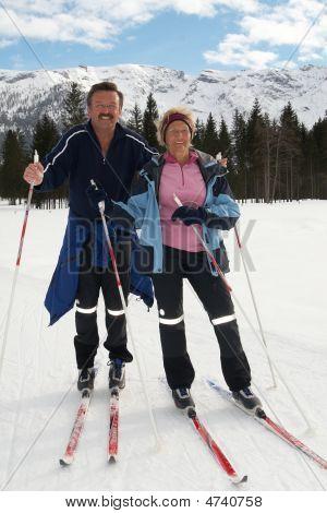 Senior Nordic Couple