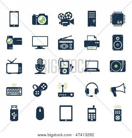 Set de iconos de electrónica y gadgets