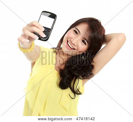 Teenager Girl Take The Picture Her Self