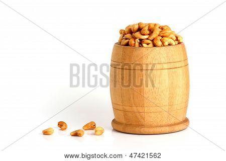 Cashews In Small Barrel