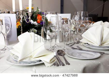 Stylish White Table Setting