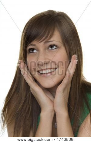 Woman With Gestures Surprise
