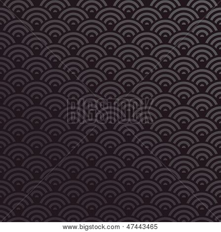 Elegant Orient abstract design seamless pattern black background. Vector illustration layered for easy manipulation and custom coloring. poster