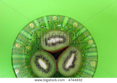 Green Bowl With Cut Kiwi