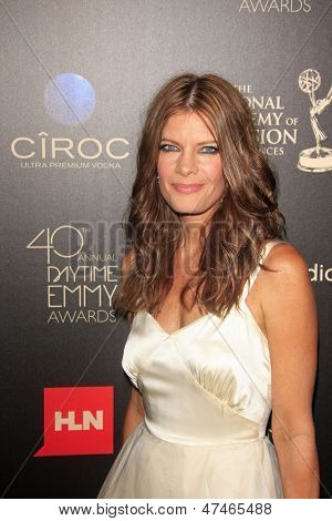 BEVERLY HILLS - JUN 16: Michelle Stafford at the 40th Annual Daytime Emmy Awards at The Beverly Hilton Hotel on June 16, 2013 in Beverly Hills, California