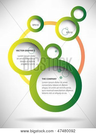 Abstract Web Design Bubble Background