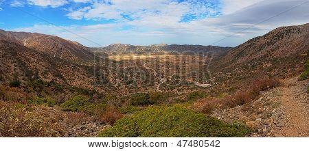 Omalos plateau in Crete (Greece / Europe)