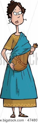 Roman citizen on a white background vector illustration poster