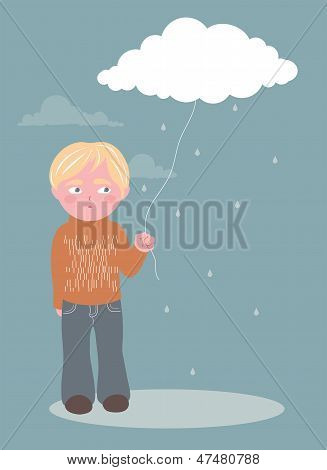 Boy and cloud